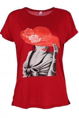 Дамска тениска LADYS червена