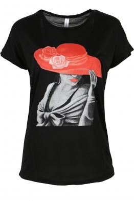 Дамска тениска LADYS черна