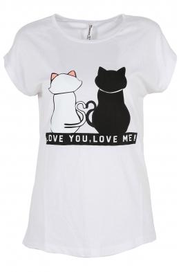 Дамска тениска LOVE YOU - LOVE ME бяла