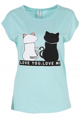 Дамска тениска LOVE YOU - LOVE ME резида