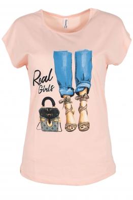 Дамска тениска POEM А-4 розова