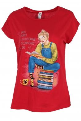 Дамска тениска RELAX червена