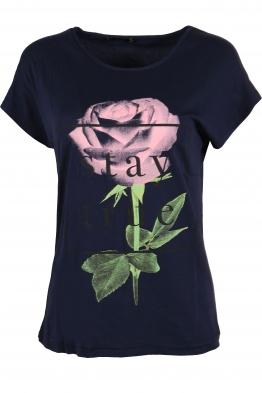 Дамска тениска STAY TRU  тъмно синя