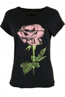 Дамска тениска STAY TRU черна