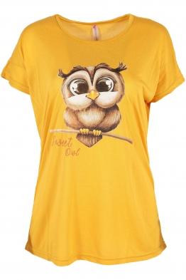 Дамска тениска SWEET жълта