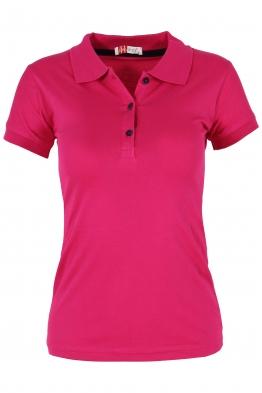 Дамска тениска МОР с якичка цикламена