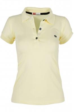 Дамска тениска МОР с  якичка  млечно жълта