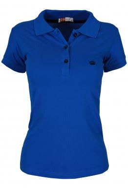 Дамска тениска МОР с якичка кралско синя
