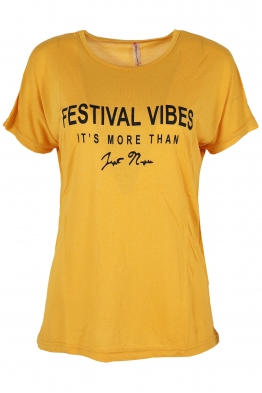 Дамска тениска FESTIVAL жълта