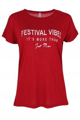 Дамска тениска FESTIVAL червена