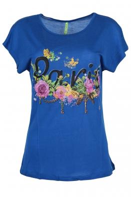 Дамска тениска Парис А-1 кралско синя