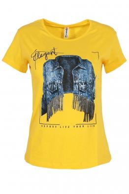 Дамска тениска ELEGANT жълта