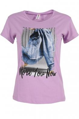 Дамска тениска NEW YORK  лилава
