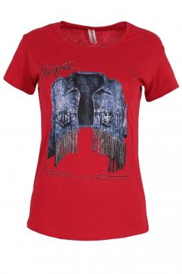 Дамска тениска ELEGANT червена
