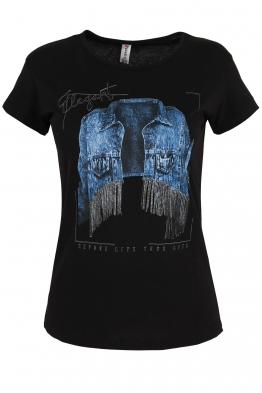 Дамска тениска ELEGANT черна