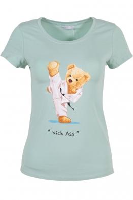 Дамска тениска KICK ASS резида