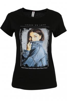 Дамска тениска LOOKS WE LOVE черна