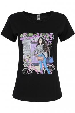 Дамска тениска MAILS черна
