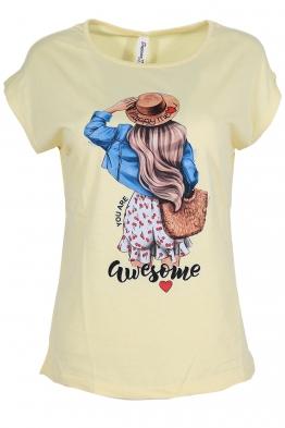 Дамска тениска MOLLY жълта