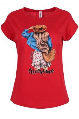 Дамска тениска MOLLY червена