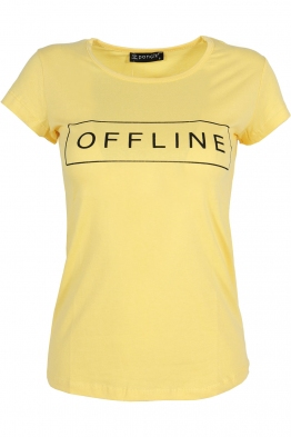 Дамска тениска OFFLINE жълта