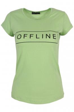 Дамска тениска OFFLINE зелена