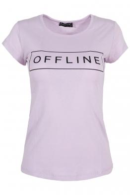 Дамска тениска OFFLINE лилава