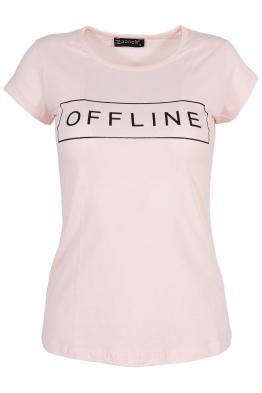 Дамска тениска OFFLINE розова
