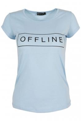 Дамска тениска OFFLINE синя