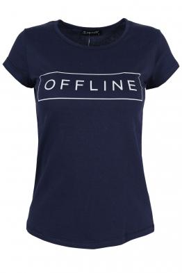 Дамска тениска OFFLINE тъмно синя