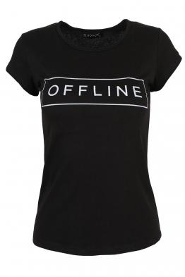 Дамска тениска OFFLINE черна