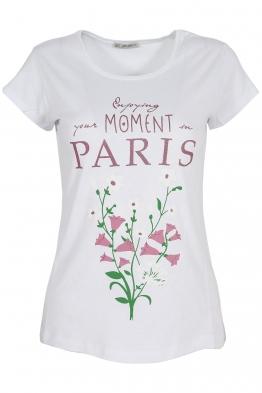 Дамска тениска PARIS бяла
