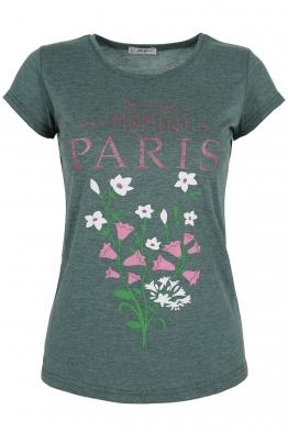 Дамска тениска PARIS зелена