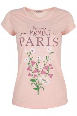 Дамска тениска PARIS розова