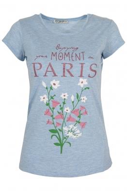 Дамска тениска PARIS синя