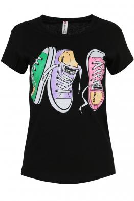 Дамска тениска SNEAKERS черна