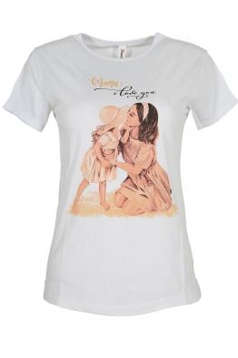 Дамска тениска SWEET ANGEL бяла