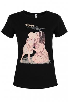 Дамска тениска SWEET ANGEL черна