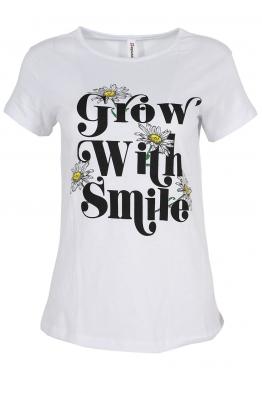 Дамска тениска WITH SMILE бяла