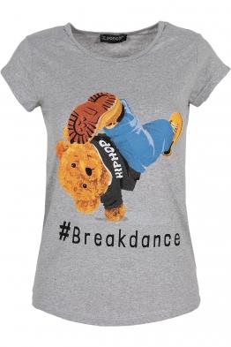 Дамска тениска BREAKDANCE сива