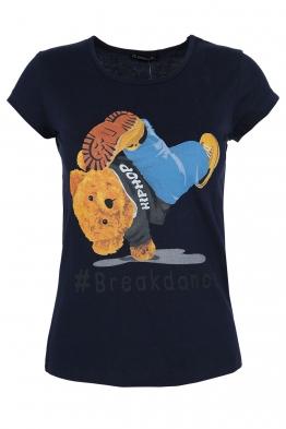 Дамска тениска BREAKDANCE тъмно синя