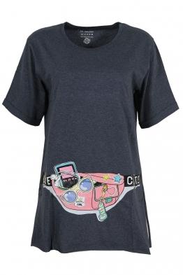 Дамска тениска CUTE тъмно синя