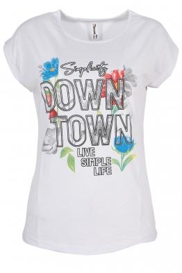 Дамска тениска DOWNTOWN бяла