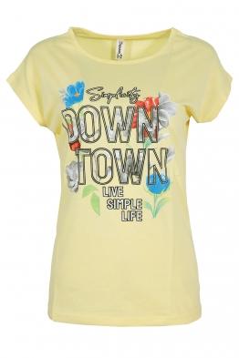 Дамска тениска DOWNTOWN жълта
