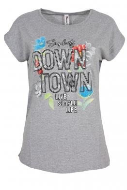 Дамска тениска DOWNTOWN сива