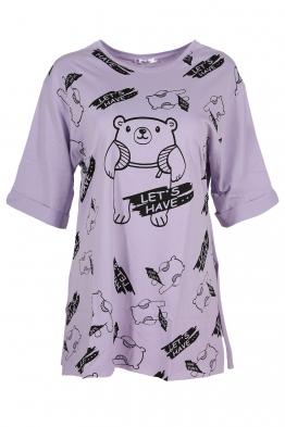 Дамска тениска LETS HAVE лилава