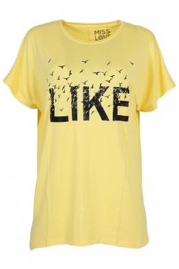 Дамска тениска LIKE жълта