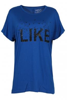Дамска тениска LIKE кралско синя