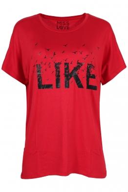 Дамска тениска LIKE червена