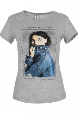 Дамска тениска LOOKS WE LOVE сив